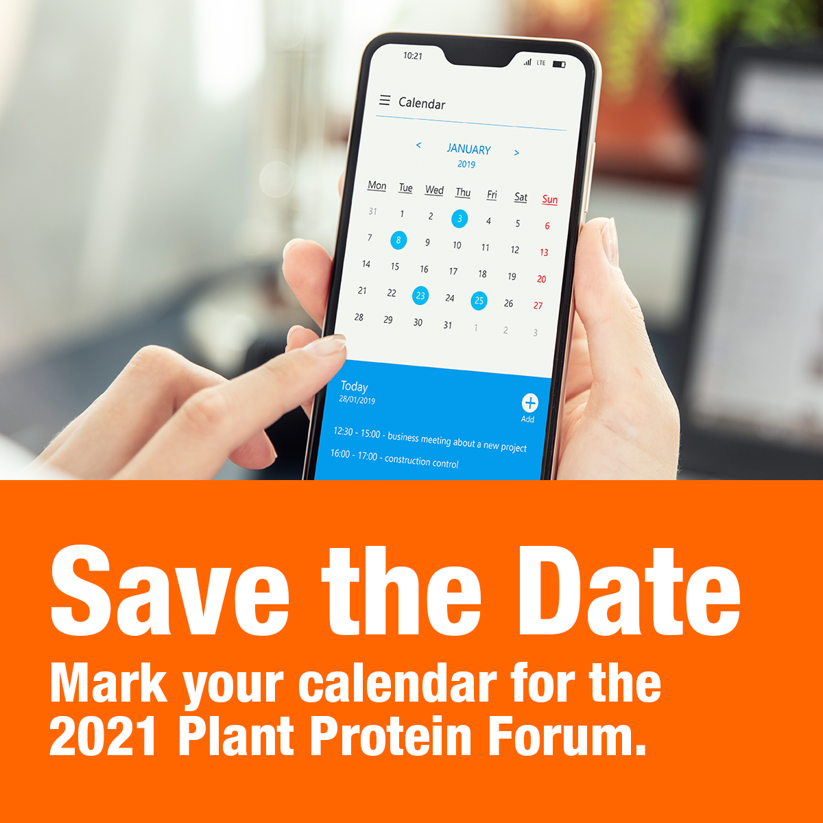 Save the date for the 2021 Plant Protein Forum